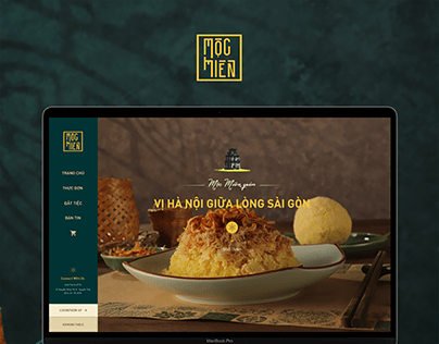 Mộc Miên Restaurant - Web Design