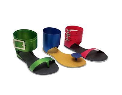 Footwear design - handmade cardboard model