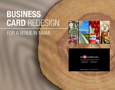 Business Card Redesign for a Hospitality Venue