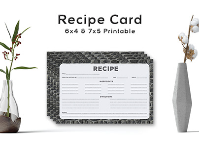 Free Stone Pattern Recipe Card Template