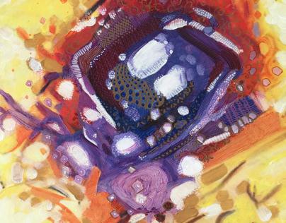 Abstract art of Artisit Salman Alhajri
