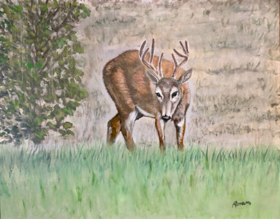 """As The Deer Pants"" Acrylic On Canvas"