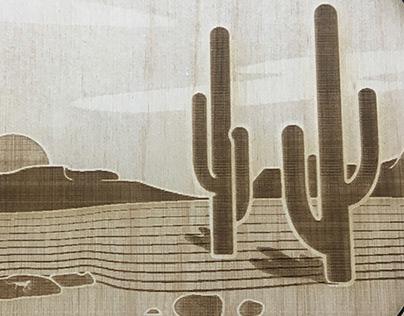 Laser Cut Desert Coaster