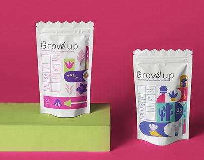 "Fertilizer for exotic plants ""Grow up"""