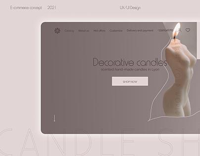 E-Commerce Project. Candle Shop