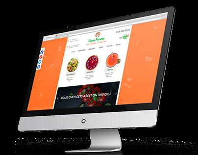 "Website for vegan cafe ""Vegan Panacea"""