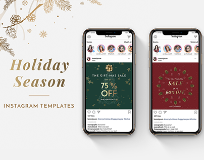 Holiday Season Instagram Templates