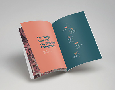 Layout Design 'Basic of Copperplate Calligraphy'