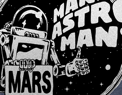"MAN OR ASTRO-MAN? ""Mars Robot Shirt"""