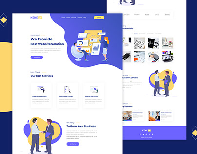 Creative agency website UI design