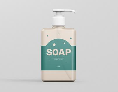 Soap Dispenser Mockup Rectangle