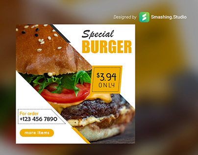 Free Burger Shop Web Banner Set