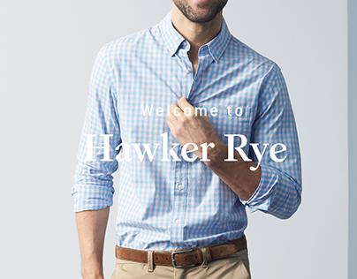 Hawker Rye Branding