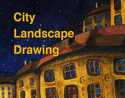 City Landscape Hand Drawing