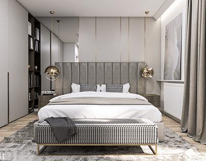 Sypialnia w domu jednorodzinnym
