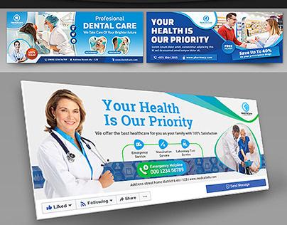 Medical Health Care Facebook Cover Bundle