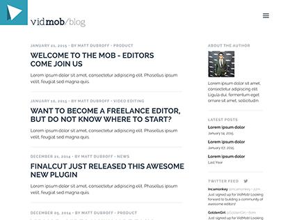 Vidmob Blog UI