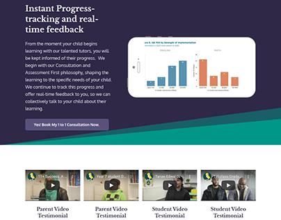 LearnWorlds Landing Page Design