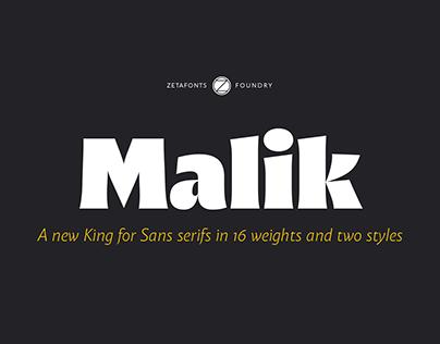 Malik - A new King for Sans serifs