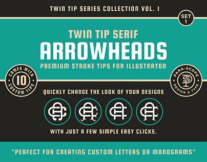Twin Tip Arrowheads Set 1 - Stroke tips