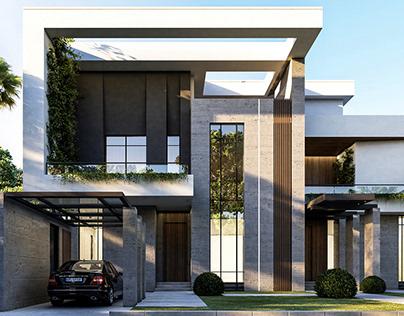 Modern villa exterior design, KSA