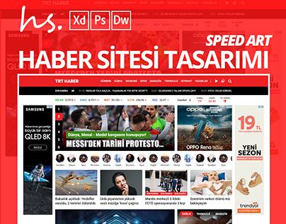 Haber Sitesi Arayüz Tasarımı - SpeedArt ( XD )
