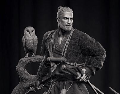 Geralt Ronin Figure - CD Projekt