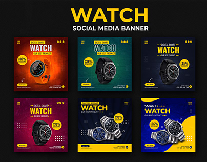 Watch Social Media Banner Template