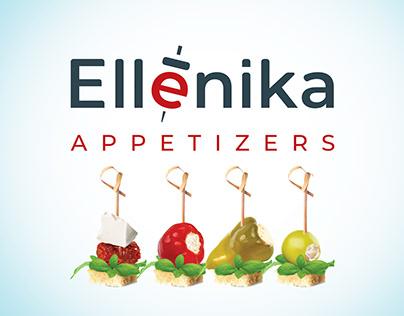 Ellenika. Дизайн торговой марки и упаковки для закусок