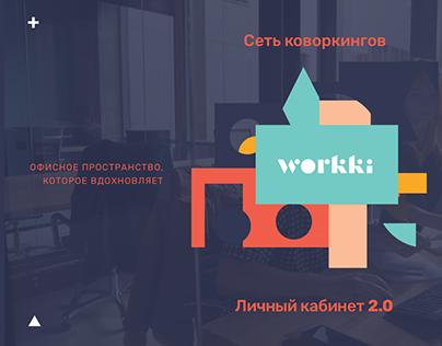 Кабинет клиентов для сети коворкингов Workki