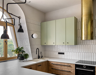 "Apartment ""Avocado"", Kyiv, 2020"