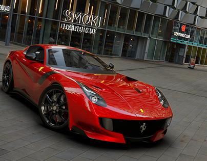 Ferrari F12 TDF -Vred renderings