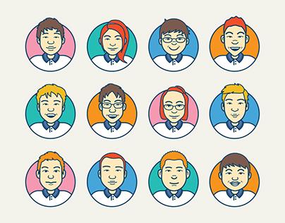 Character Designs  (Flat Avatar Illustrations)