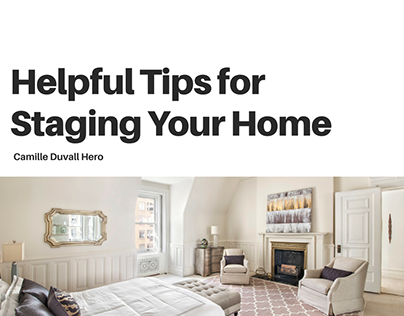 Helpful Tips for Staging Your Home