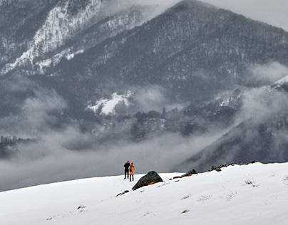 Mountain Life in orange Style.