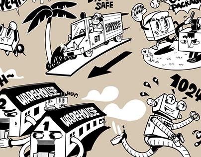 利程坊 EXPLORIUM | 墙绘插画