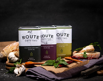 Route 62 Olive oil: Photography and package design.