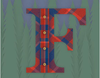 F is for Flannel in the Forest