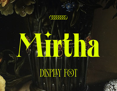 Mirtha Display Font