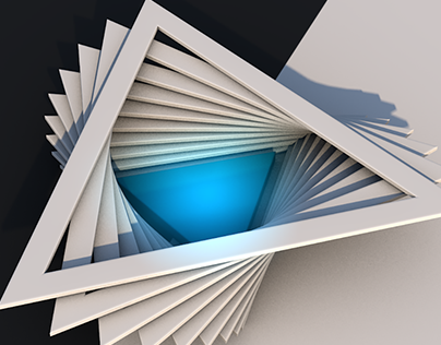 Speed 3D Art collection | Blue light on Black and White