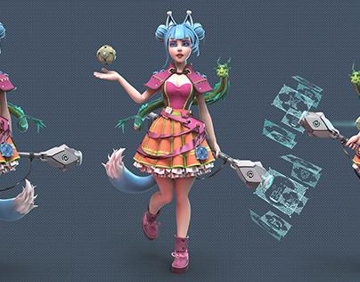 Ayla - wizard girl 3D Character