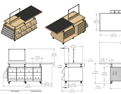 Furniture Millwork Shop Drawings and Detailing