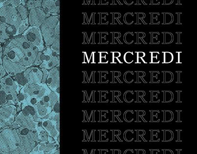 MERCREDI - Serif Font w/ free marble textures!