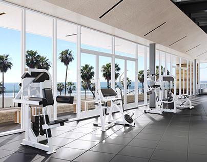 Huntington Beach Equinox Gym Renders