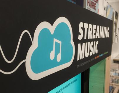 Streaming Music Installation