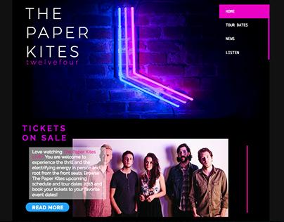 "Fansite/Website Development ""The Paper Kites"""
