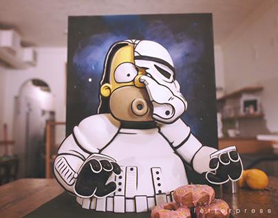 Stormtrooper Homer Cake
