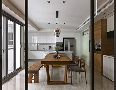 Three generations of warm residential in Taiwan by HOZO