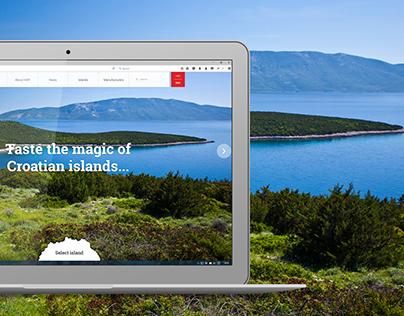 Croatian Island Product - Website
