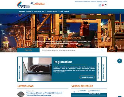 TPS (Terminal Petikemas Surabaya) Website